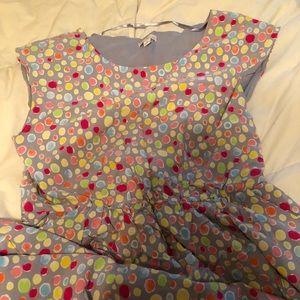 GAP gray and multi fun polka dot dress